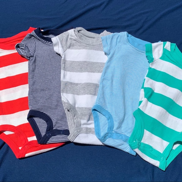 Carter's Other - 💙baby boy striped onesies💙